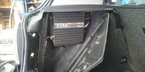 Solid Amplifier Rack Behind an Access Panel