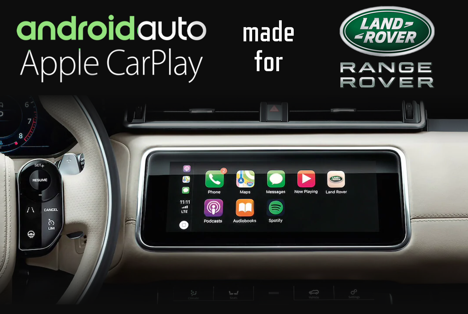 Land Rover And Range Rover Specific Carplay And Android Auto Ccs