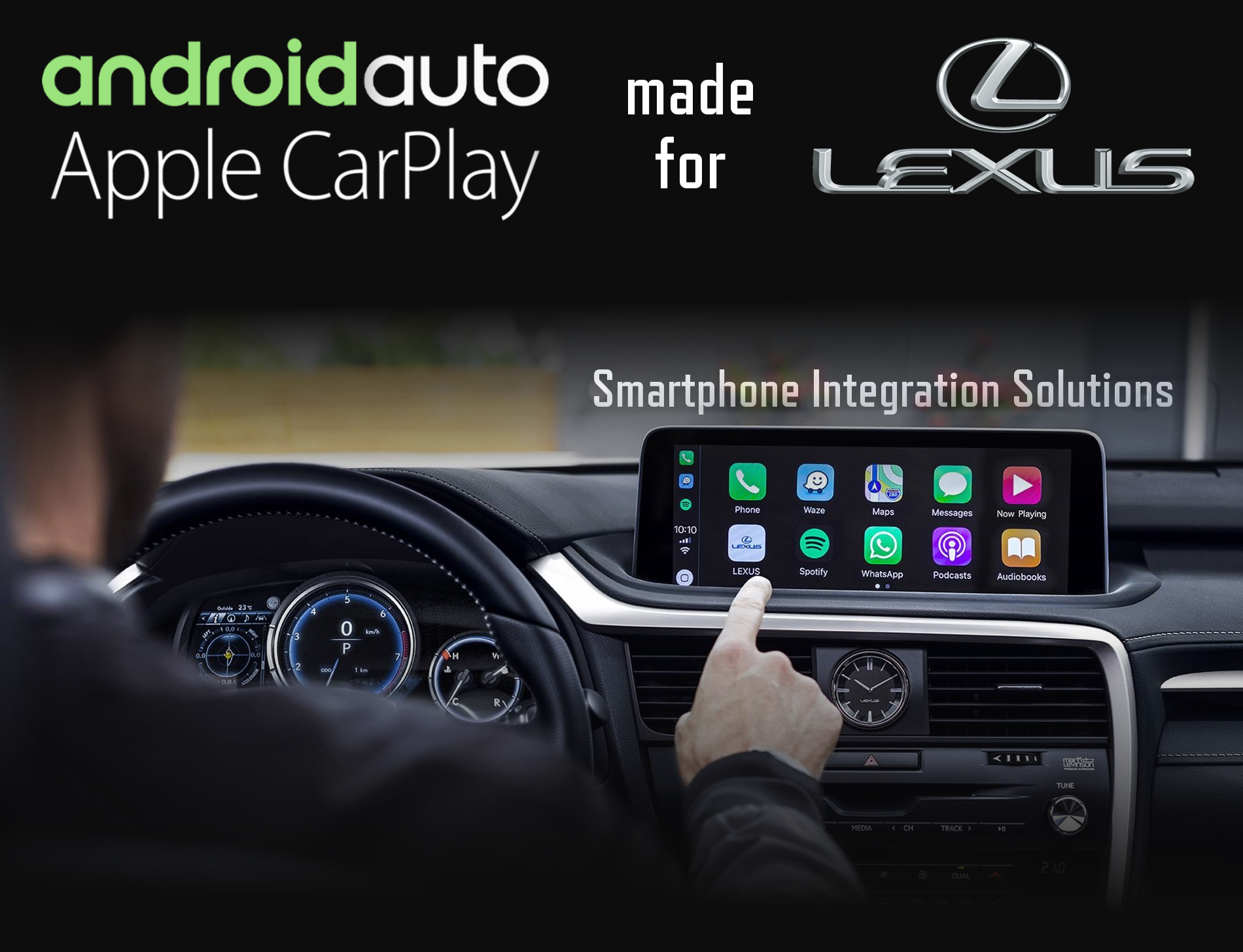 Aftermarket Apple Carplay, Android Auto integration for Lexus factory radio screens for, CT200H, CT, ES330, ES350, ES300h, ES350, ES, GS200t, GS350, GS450h/f, GS, GX460, GX470, HS250h, IS, IS250, IS350C/F, IS C/F, IS250, IS200t, IS250, IS300, IS350, IS200t, IS250, IS300, IS350, IS, LC, LFA, LS430, LS460, LS600HL, LS460, LS600HL, LS600H, LS, LX460, LX600HL, LX470, LX570, LX570, LX570, LX, NX200t, NX300h, NX200t, NX300h, NX, RC200t, C300, C350f, RC200t, RC300, RC350f, RC, RX300 RX400h, RX330, RX350, RX450h, RX, UX